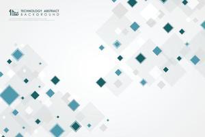 abstrakt fyrkantig blå mönster design av högteknologiska dimension bakgrund. illustration vektor eps10