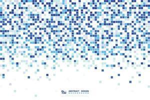 abstraktes blaues Quadratmusterdesign 8bit dekorativ für minimale Technologie. Illustrationsvektor eps10 vektor