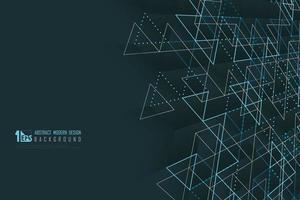 abstrakt affärsteknologi av trianglar mönster med grön stil presentation bakgrund. illustration vektor eps10