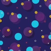 abstrakt av färgglada retro geometriska mönster design bakgrund. illustration vektor eps10