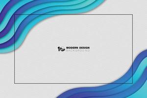 blaues Wellenmusterdesign des abstrakten Farbverlaufs auf weißem Linienbeschaffenheitshintergrund. Illustrationsvektor eps10 vektor