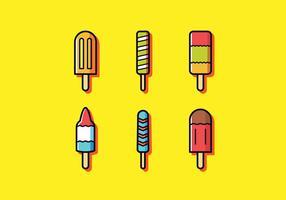 sommar popsicles vektor