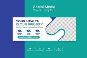 Titelbild für Gesundheitswesen und medizinische soziale Medien vektor