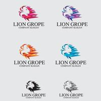 Löwe Logo Design Vektor Vorlage