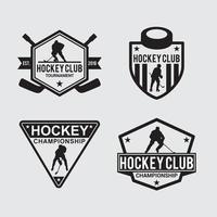 hockey club logotyp emblem vektor designmallar