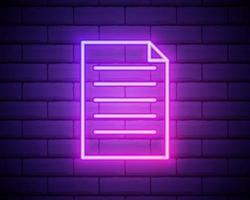 feedback neon ikon. element i utbildningsset. enkel ikon för webbplatser, webbdesign, mobilapp, informationsgrafik isolerad på tegelvägg vektor