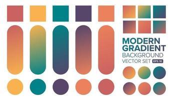 Satz bunte moderne Farbverlaufshintergründe vektor