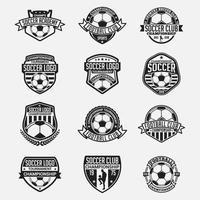 fotbollsmärken och logotyper vektor