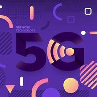 typografi 5g på abstrakt bakgrund vektor