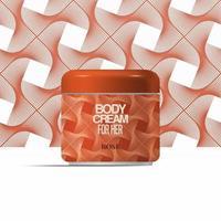 Kosmetik Körpercreme Flasche abstraktes Design, Körpercreme Markendesign, Verpackungsvorlage Design, Etikettendesign, kosmetische Modell Design Etikettenvorlage vektor