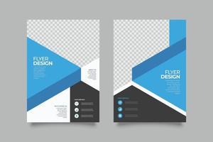 elegante blaue geometrische Geschäftsfliegerschablone vektor