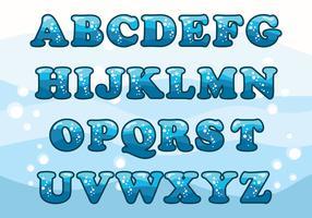 Wasser-Alphabet-Set vektor