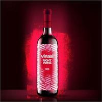 Weinflaschenvektor, Rotweinflaschenetikett-Konzeptdesign, buntes Rotweinverpackungsdesign vektor