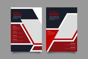 modern röd geometrisk affärsbladmall vektor