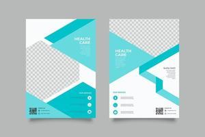 moderne blaue geometrische Webinar-Flyer-Vorlage vektor
