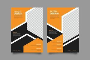 modern orange flygblad företags formgivningsmall vektor