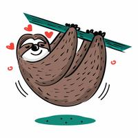 Gullig hängande sloth