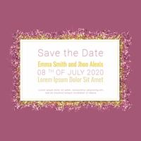 Vektor Glitter Save the Date Banner