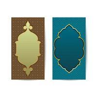 etnisk vertikal prydnad. vintage dekorativt element. motiv av orientaliska, islamiska, arabiska. islamisk bakgrundsbanner vektor
