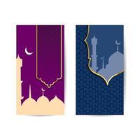 illustration av bannermallar för eid och ramadan mubarak. moskén lämplig för ramadan och eid hälsning, bakgrund, islamisk fest. islamisk bakgrundsbanner vektor