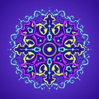 Mandala-dekorative Verzierungs-purpurroter Hintergrund-Vektor