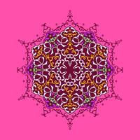Mandala-dekorative Verzierungs-Rosa-Hintergrund-Vektor