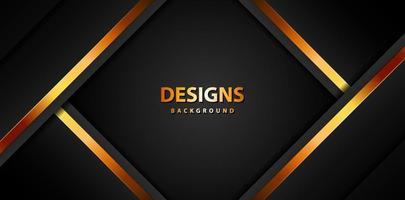 modernes Luxusgoldbanner, abstraktes Hintergrundbrett für Text- und Nachrichtendesign vektor