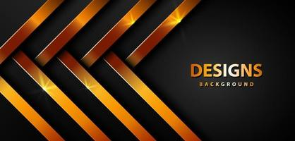 Luxus funkelnder goldener Hintergrund auf dunklem schwarzem Papier vektor