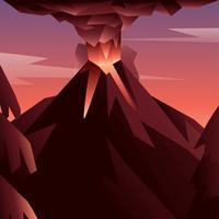 vulkanutbrott vektor