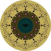 komplex geometrisk cirkulär mandala vektor