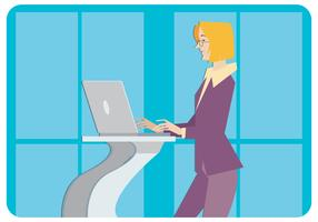 Moderner Geschäftsfrau-Vektor