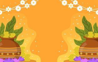 akshaya tritiya festlighet bakgrund vektor