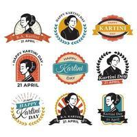 Kartini Day Vintage Aufkleber vektor