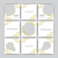 uppsättning elegant digital marknadsför sociala medier banner post mall uppsättning vektor