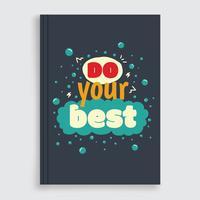 motivational bokomslag vektor
