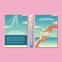 Die Macht der Visualisierung motivierende Buch Cover Vector