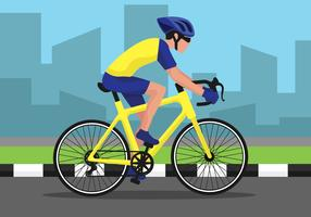 Eine Fahrrad-Illustration fahren vektor