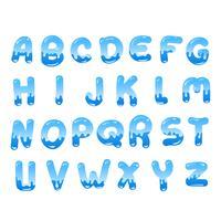 Wasser Alphabet vektor