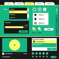 Wireframe UI Kit Elemente Vektor Vorlage