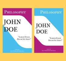 Philosophie Buchcover Vorlage vektor