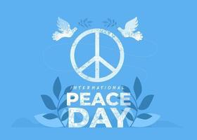 21. September, internationaler Friedenstag vektor