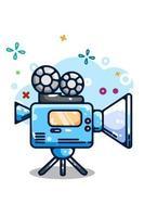 Kamera Video Illustration Handzeichnung vektor