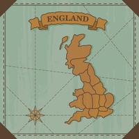 england gammal karta vektor