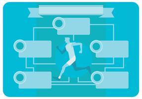 Healt und Wellness Broschüre Konzept Vektor