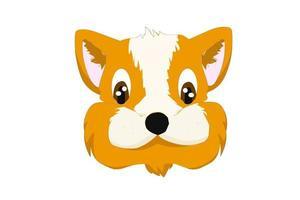 orange hund logotyp tecknad design djur