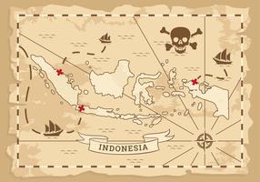 Alter Kartenvektor Indonesiens