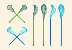 Vektor Lacrosse-Stöcke