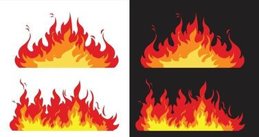 Feuerflammen, Vektordesign, Ikone vektor