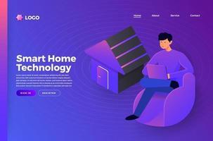 Smart-Home-Technologie vektor
