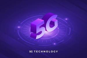 moderne 5g Technologie vektor